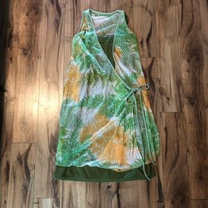 Festival Boho Dress size small- green